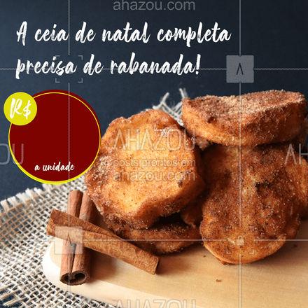 E aqui você pode encomendar as suas! ? (inserir telefone) ? #natal #rabanada #ahazoutaste #confeitaria
