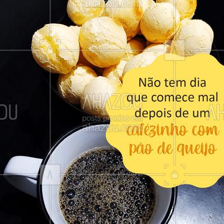 Venha tomar seu cafézinho com pão de queijo com a gente! ??☕ #Café #PãodeQueijo #ahazoutaste #CafécomPãodeQueijo  #coffeelife