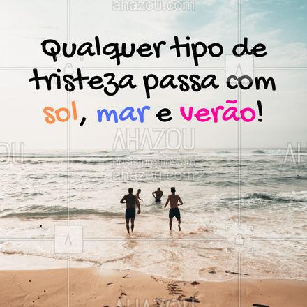 A melhor terapia que existe é a praiaterapia! ? #praia #frasesdepraia #AhazouFashion  #modapraia #moda #summer