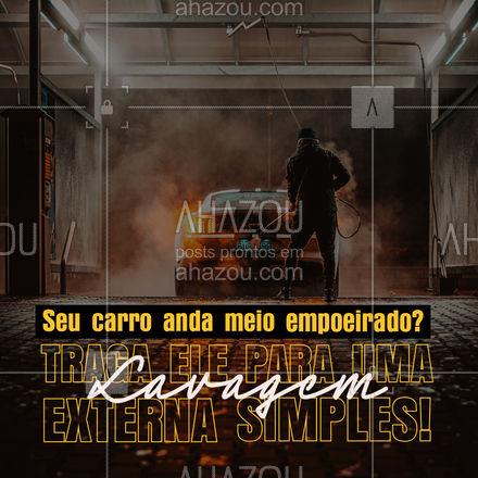 Damos um jeitinho nessa poeira para você! É simples, rápido e com o precinho que você gosta!  #AhazouAuto #lavajato #carros #lavagemsimples  #esteticaelavajato #esteticaautomotiva