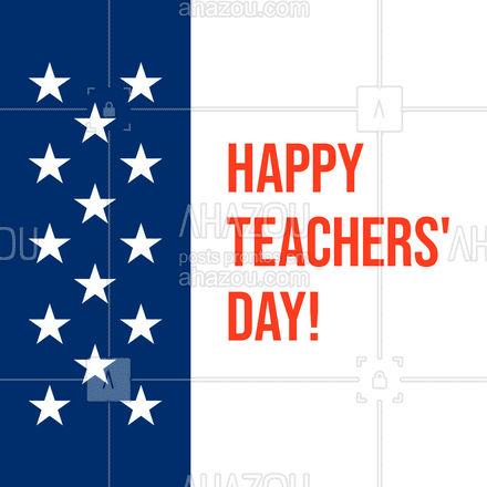"""Hoje queremos dizer """"thank you"""" aos nossos teachers por tudo o que nos ensinam!  Enjoy your day!   #DiaDosProfessores #TeachersDay #inglês #idiomas #AhazouEdu  #aulasdeingles"""