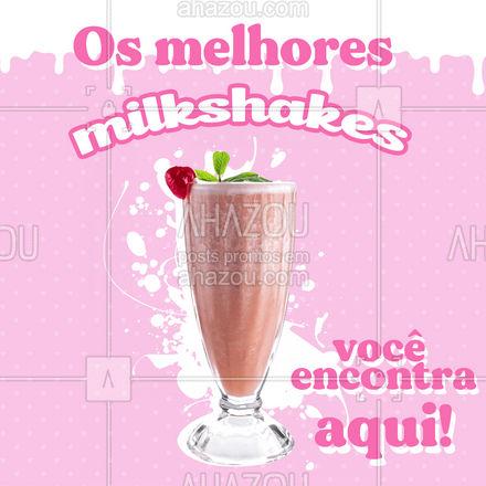 Temos sabores deliciosos esperando por você, venha conferir! ? #sorvete #milkshake #ahazoutaste  #gelados  #sorveteria  #icecream