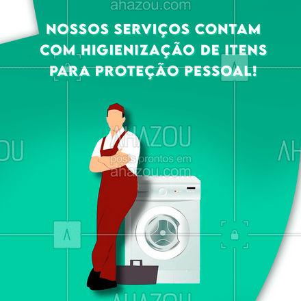 Traga seus equipamentos de trabalho para higienização! #AhazouServiços  #lavanderia #roupalavada #roupalimpa