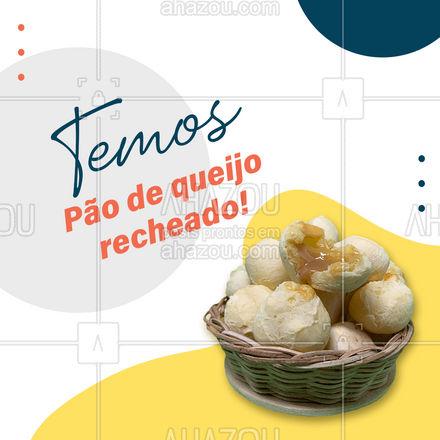 Venha experimentar essa delícia! Temos vários sabores disponíveis! #paodequeijo #recheado #novidade  #ahazoutaste  #padaria #cafedamanha #salgados