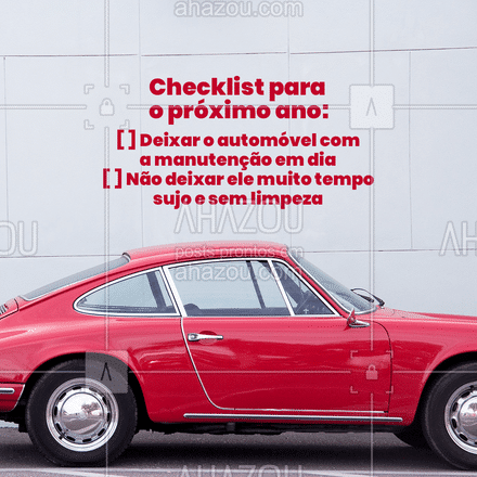 Não deixe de cumprir o checklist neste ano que está chegando. Seu automóvel também precisa de cuidados.  #elétricaautomotiva #fimdeano #AhazouAuto  #carros #novoano #esteticaautomotiva #mecanicaautomotiva