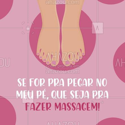 No mínimo, né?! ??? #pegarnopé #massagem #AhazouSaude  #massoterapia #relax #quickmassage