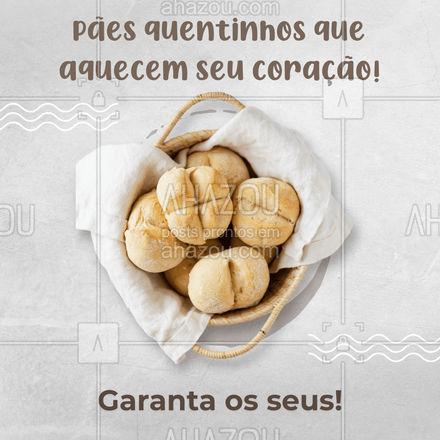 Venha garantir os seus pães quentinhos para manter seu coração quentinho! 🍞💖 #ahazoutaste #padaria  #pãoquentinho  #padariaartesanal  #cafedamanha  #panificadora  #bakery  #confeitaria
