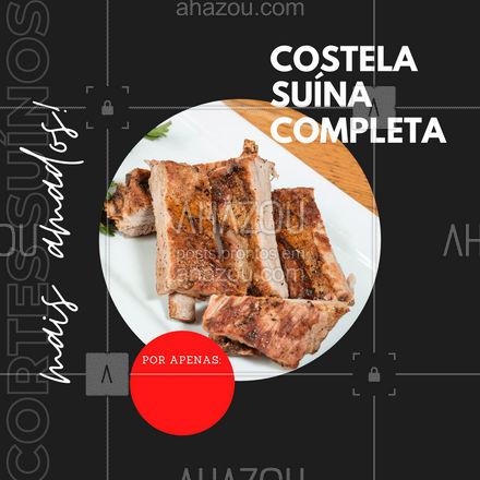 O corte suíno mais amado e especial está só esperando por você! Costela suína completa e de qualidade só esperando por você! #ahazoutaste #costelasuina #costela #carnesuina  #açougue