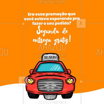 Já garantiu o seu pedido? ? #ahazoutaste #frete #fretegratis #entregagratis #gratis  #foodie #gastronomy #gastronomia #culinaria #delivery #entrega #segunda-feira