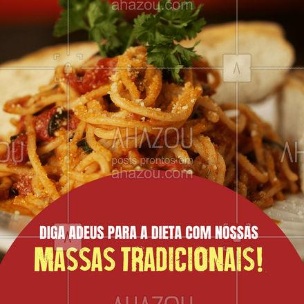 Não tem comida melhor do que a italiana para aproveitar o Dia Internacional Sem Dieta!  #ahazoutaste  #pasta #restauranteitaliano #massas #comidaitaliana #cozinhaitaliana #italy #italianfood