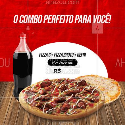 Hoje é dia de aproveitar esse combo especial feito pra você! Aproveite e peça já o seu! ? #ahazoutaste  #pizzaria  #pizza  #pizzalife  #pizzalovers #promoção #combo