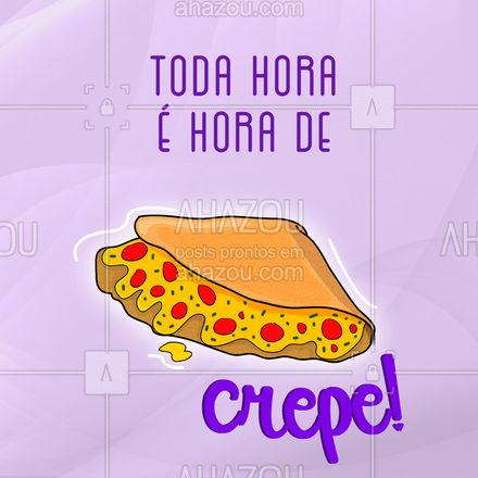 Acordou? Pede um crepe! Tá na hora do almoço? Pede um crepe! Jantar? Pede um crepe... ah não esquece o crepe doce pra sobremesa! ?  #ahazoutaste #eat #ilovefood #instafood #foodlovers #crepe #crepedoce #crepesalgado #crepelovers