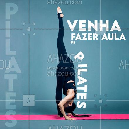 Cuide do seu bem-estar e do seu corpo! Venha fazer aula! #AhazouSaude #flexibilidade  #pilates  #pilatesbody  #pilateslovers