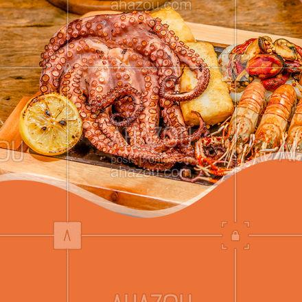 O 8 é o número mais gostoso. Já que eles têm oito tentáculos, cada um é mais gostoso que o outro. E juntos, são oito vezes mais gostosos. #ahazoutaste #polvo #oito #pescados