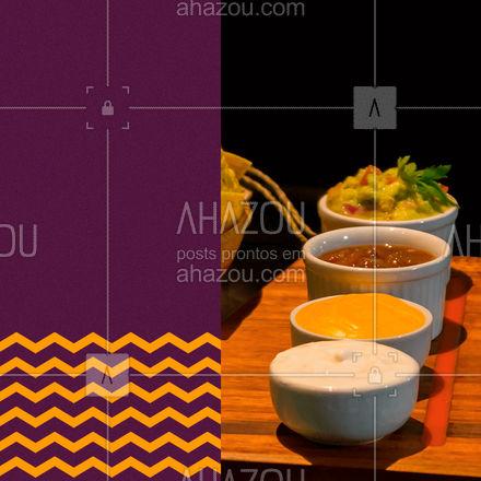 Não importa se você quer um, dois ou três tipos de molho. Só basta pedir e nós enviamos todos! ? #molhos #comidamexicana #texmex #ahazoutaste  #cozinhamexicana #vivamexico