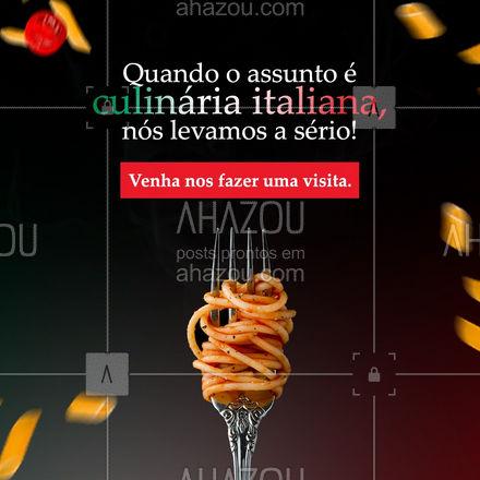 Difícil vai ser você escolher apenas um prato para saborear. ? #ahazoutaste #pasta #restauranteitaliano #massas #comidaitaliana #italianfood #cozinhaitaliana #italy