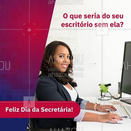 Elas levam nas costas o peso de facilitar o seu trabalho 😉 Homenageie sua secretária, ela merece! #ahazou #frasesmotivacionais #motivacional #secretaria #diadasecretaria