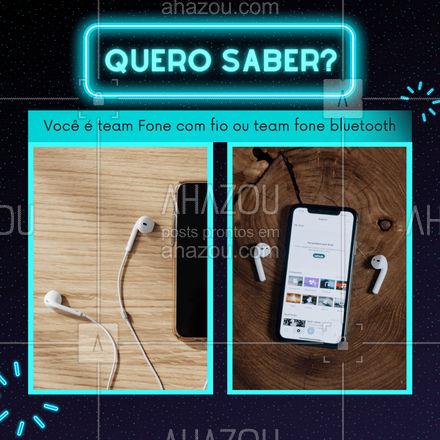 E aí me conta qual fone você mais gosta na hora de ouvir suas músicas? #AssistenciaCelular #tecnologia #eletrônicos #AhazouTec #AssistenciaTecnica #assistencia #AssistenciaTecnica #enquete