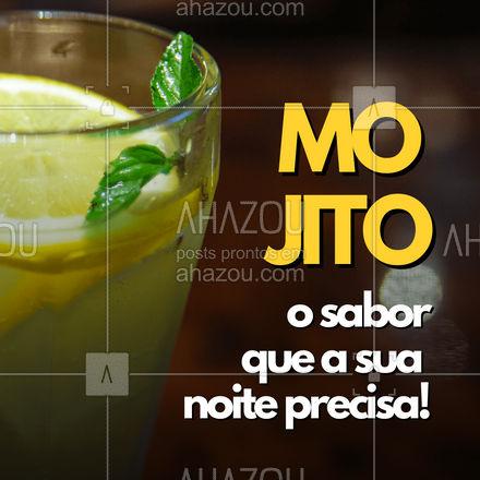 Passe aqui e experimente o nosso delicioso mojito! ? #mojito #bar #ahazoutaste #drinks  #lounge  #cocktails