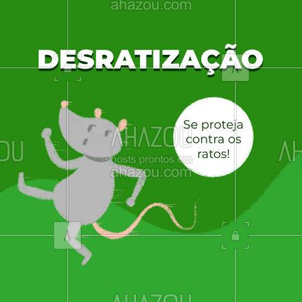 Os ratos transmitem doenças! Não deixe que eles infestem o ambiente, agende já uma desratização e elimine os ratos! #AhazouServiços #desratizacao #ratos  #dedetizacaodeambientes  #dedetizador  #pragas  #dedetizacao