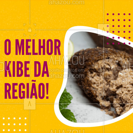 O kibe mais recheado e mais saboroso que você já experimentou! #kibe #salgado #ahazoutaste #foodlovers #salgados