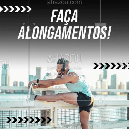Os alongamentos têm o objetivo de preparar a musculatura para realizar movimentos. Sendo eles, dinâmicos, de relaxamento muscular e para melhorar a flexibilidade. Os alongamentos não devem forçar demais e nem serem confortáveis demais. É indicado que se realize cada movimento por cerca de 15 - 20 segundos. Bora alongar! 🚀💪 #dicasdeexercícios #dicas #exercícios #personaltrainer #personal #AhazouSaude #boratreinar #AhazouSaude