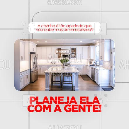 Sua cozinha planejada é o que você merece! Mais espaço e conforto para você e sua família! ?  #AhazouPlanejados  #moveissobmedida  #cozinhaplanejada  #móveisplanejados
