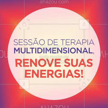 Agende sua sessão de Terapia Multidimensional, venha renovar suas energias e se beneficiar dos inúmeros benefícios dessa terapia. ❤️ #AhazouSaude  #terapiascomplementares #bemestar #energia #vivabem #saude