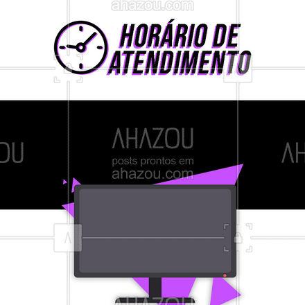 Confira nosso horário de atendimento! Esperamos por você! #consertoeletrodomesticos #consertodeeletronicos #assistenciatecnica #AhazouTec #assistentetecnico #horariode