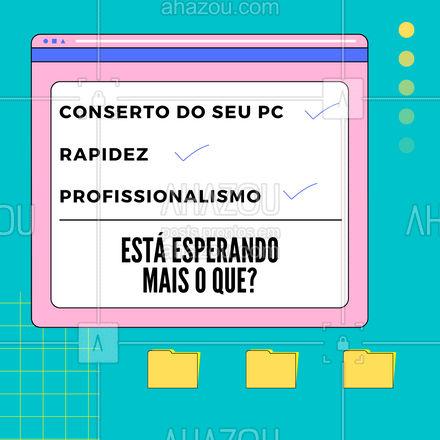 Tudo isso em um só lugar? SIMMM, agora só falta você e o seu PC vindo até aqui ? #AhazouTec #AhazouTec #pc #conserto #rapidez #profissionalismo #assistenciatecnica #tecnologia #computadores