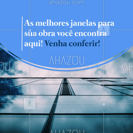 Aqui você encontra as janelas perfeitas para a sua obra! Venha conferir e garanta já as suas! #vidrotemperado #vidracaria #AhazouVidraçaria #vidraçaria #serviços #janelas