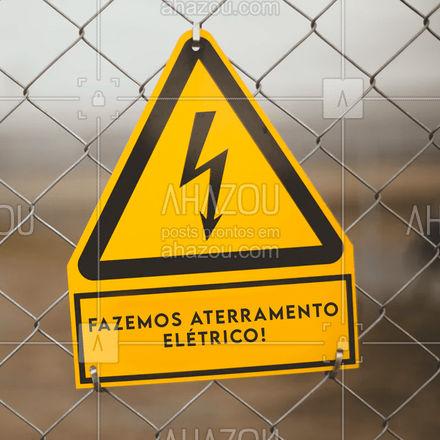 Segurança acima de tudo! Se está precisando de um aterramento elétrico, veja nossas propostas!  #AhazouServiços #eletricista #eletricidade #eletrica #serviços #serviçosparacasa #visita