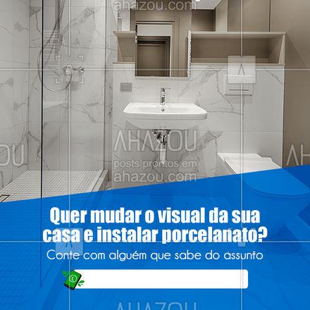 Cansou da aparência da casa e quer renovar? Trabalho com instalação de pisos e porcelanatos! Entre em contato e faça seu orçamento #AhazouServiços  #manutençao #serviços #maridodealuguel