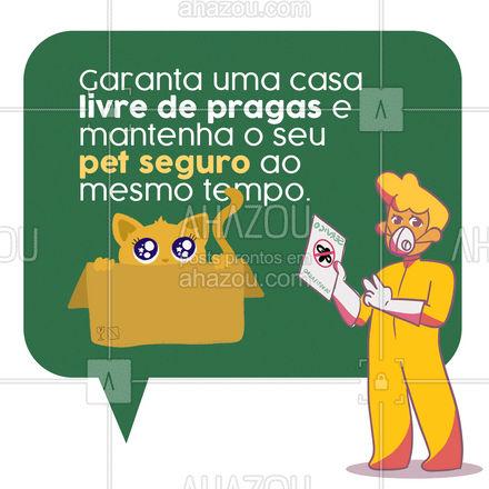 Nossa dedetização é feita de forma segura para os pets. Entre em contato!📲😁 #dedetizador #pragas #dedetizador #pets #AhazouServiços