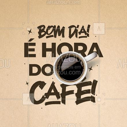 Para o dia começar bem tem que ter o cheirinho do café! ?☕  #ahazoutaste  #café #coffee #coffeelife #coffeetime