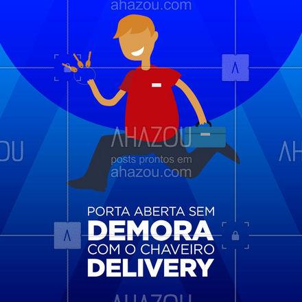 Oferecemos um atendimento rápido e profissional para os nossos clientes. Perdeu as chaves? Chama o nosso serviço delivery. ? #AhazouServiços #chaveiro #delivery