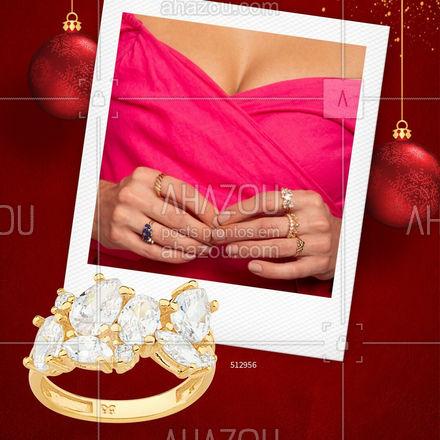 Dica de presente chique e sofisticado? Nossos anéis com zircônias brancas são uma ótima opção. #Rommanel #AnaHickmannbyRommanel #ref512956 #ahazourommanel #ahazourevenda