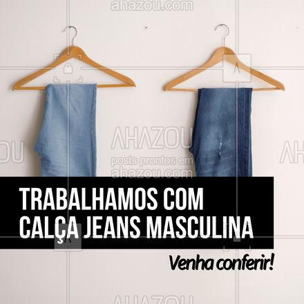 Difícil vai ser escolher apenas um modelo, venha conferir nossas opções de jeans!  👖 #AhazouFashion #modaparahomens #modamasculina #menswear #calcajeans #jeansmasculino