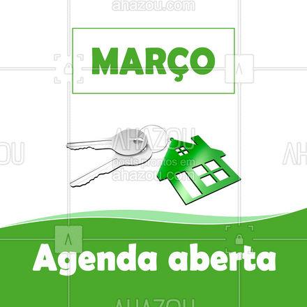 Estamos a disposição. Contrate nossos serviços de chaveiro e fique tranquilo(a) em Março! #AhazouServiços #chave #chaveiro #AhazouServiços #agendademarço #serviços