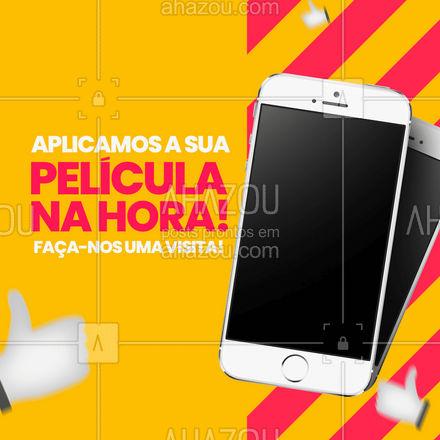 Precisando de uma película no seu smartphone? Aplicamos na hora para você!??   #AhazouTec  #AssistenciaCelular  #assistentetecnico  #eletrônicos  #celulares   #AssistenciaTecnica  #celular