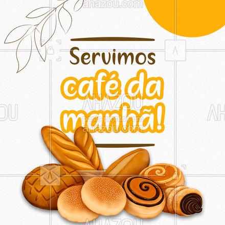 Venha tomar o seu café da manhã com a gente! Temos muitas variedades e pão fresquinho te aguardando! #ahazoutaste  #padaria #pãoquentinho #padariaartesanal #cafedamanha #coffee #cafedamanha