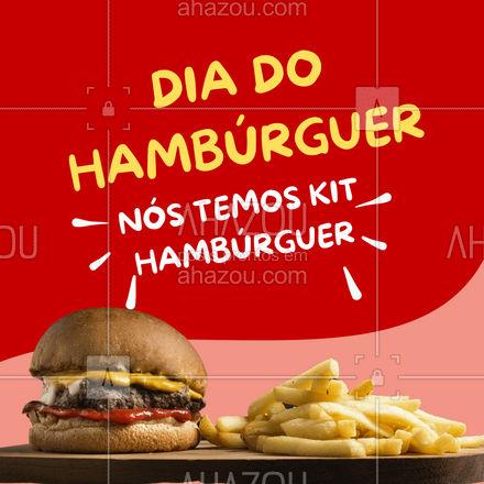 Já perdeu um baita tempo procurando um lugar pra comprar um kit hambúrguer de qualidade? Seus problemas acabaraaaam! Aproveite o dia do hambúrguer e garanta o seu! ?? #ahazoutaste #hamburguer #burguer #burger #food #comida #diadohamburguer #KitBurger #KitHamburguer #delivery #lanche #ahazoutaste #ahazoutaste #ahazoutaste