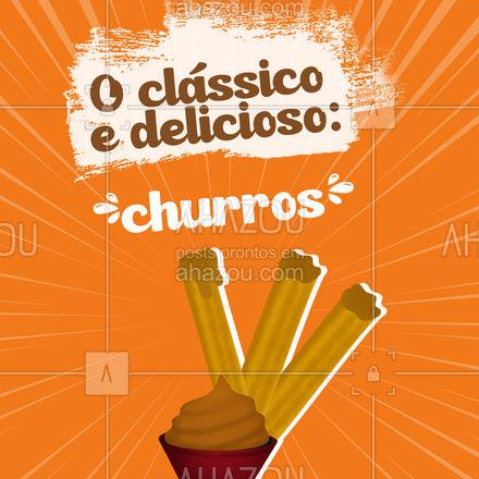 Qual vai ser o de hoje? O clássico ou uma porção de mini churros? #churros #minichurros #doce #ahazoutaste #confeitaria #foodlovers