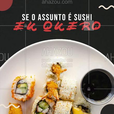 Não precisa pensar duas vezes, se o papo é sushi fica difícil resistir. ?? #ahazoutaste  #japanesefood #sushitime #sushidelivery #japa #delivery #peixes #instafood