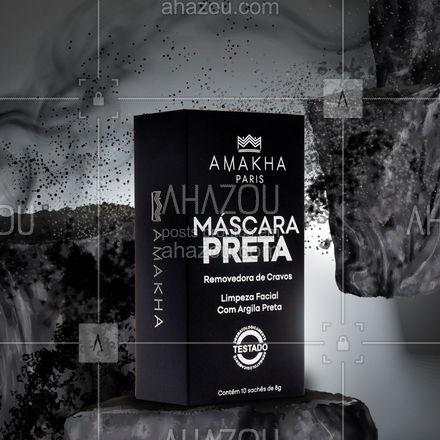 Se você adora maquiagem e faz aquela produção arrasadora é preciso cuidar da pele do rosto! A Máscara Preta é uma incrível removedora de cravos, que realiza uma limpeza facial profunda, tirando o excesso de oleosidade da pele! Esse é um produto que tem como base a argila preta, que além de limpar, também hidrata e deixa a pele do rosto renovada e energizada! Tire um tempo para você e cuide-se com Amakha Paris!⠀ ⠀ #peleperfeita⠀ #cuidados⠀ #mascarapreta⠀ #amakhaparis⠀ #amakhaparisoficial #ahazourevenda #ahazouamakha