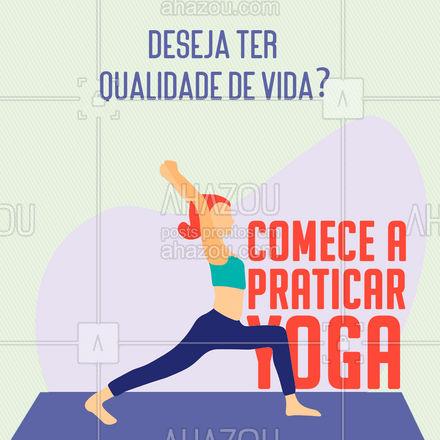 A yoga te traz calma na alma, acalenta o coração e faz bem pro corpo! ? #AhazouSaude #meditation #yogalife #yoga #namaste #yogainspiration #qualidadedevida #AhazouSaude