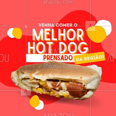 O nosso hot dog prensado é o melhor da região e você pode provar! Venha experimentar!  #ahazoutaste  #hotdoglovers #hotdog #prensado #cachorroquente