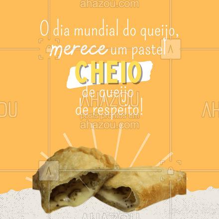 Hoje é um dia digno do melhor pastel que você já comeu! Qual tipo de queijo vai ser hoje? Faça seu pedido! #ahazoutaste  #amopastel #pastel #pastelaria