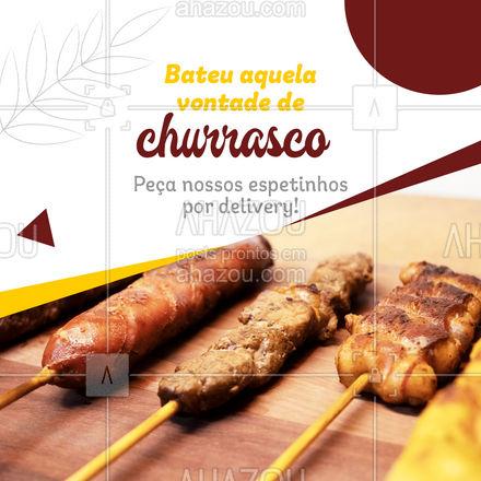 Praticidade e qualidade na porta da sua casa! Peça já os seus! #espetinho #delivery #churrasco #ahazoutaste  #bbq #açougue #barbecue #churrascoterapia #meatlover