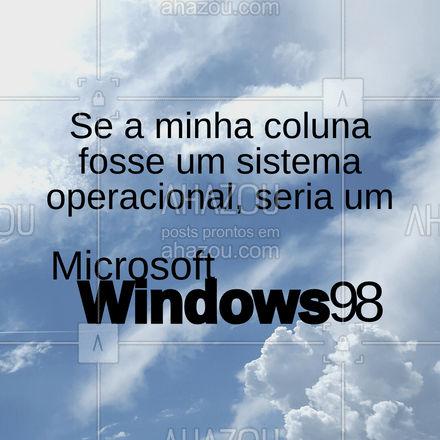 Acho que está na hora de atualizar o seu sistema. ? #AhazouTec #computadores #windows98 #coluna